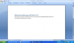 Auflösung HP Mini 2133